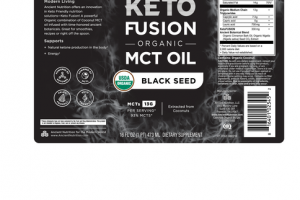 KETO FUSION ORGANIC MCT OIL DIETARY SUPPLEMENT