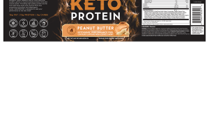 KETO PROTEIN KETOGENIC PERFORMANCE FUEL WHOLE FOOD DIETARY SUPPLEMENT PEANUT BUTTER