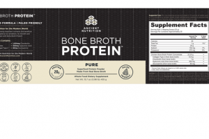 BONE BROTH PURE SUPERFOOD PROTEIN POWDER WHOLE FOOD DIETARY SUPPLEMENT