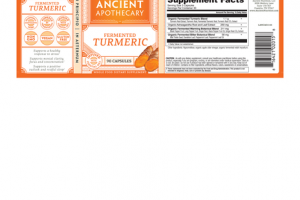 FERMENTED TURMERIC WHOLE FOOD DIETARY SUPPLEMENT CAPSULES