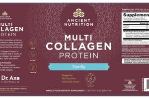 VANILLA HEALTHY SKIN, NAILS AND JOINTS MULTI COLLAGEN PROTEIN WHOLE FOOD DIETARY SUPPLEMENT