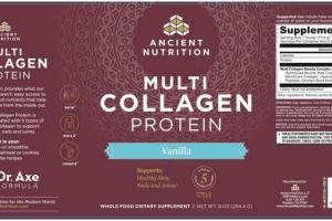 MULTI COLLAGEN PROTEIN WHOLE FOOD DIETARY SUPPLEMENT VANILLA