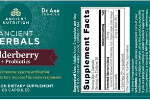 ANCIENT HERBALS + PROBIOTICS WHOLE FOOD DIETARY SUPPLEMENT CAPSULES ELDERBERRY