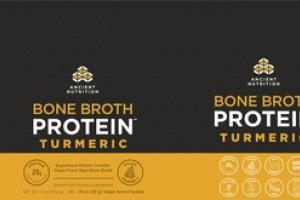 TURMERIC BONE BROTH SUPERFOOD PROTEIN POWDER WHOLE FOOD DIETARY SUPPLEMENT SINGLE SERVE PACKETS