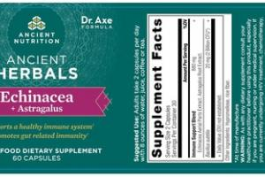 ECHINACEA + ASTRAGALUS ANCIENT HERBALS WHOLE FOOD DIETARY SUPPLEMENT