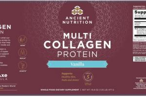 MULTI COLLAGEN PROTEIN WHOLE FOOD DIETARY SUPPLEMET VANILLA