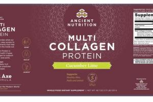MULTI COLLAGEN PROTEIN WHOLE FOOD DIETARY SUPPLEMENT CUCUMBER LIME