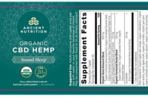 FULL-SPECTRUM ORGANIC CBD HEMP DIETARY SUPPLEMENT CAPLETS