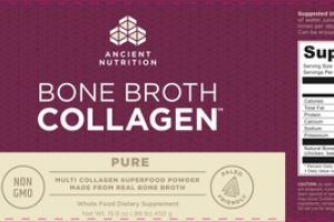 PURE BONE BROTH COLLAGEN WHOLE FOOD DIETARY SUPPLEMENT