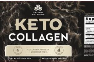 KETO COLLAGEN WHOLE FOOD DIETARY SUPPLEMENT
