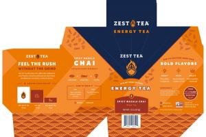 SPICY MASALA CHAI ENERGY BLACK TEA BAGS