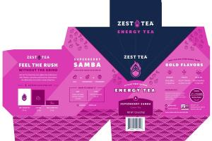SUPERBERRY SAMBA ENERGY GREEN TEA BAGS