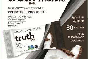 DARK CHOCOLATE COCONUT PREBIOTIC + PROBIOTIC MINIS BAR