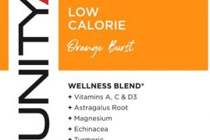LOW CALORIE SWEETENED & FLAVORED WITH FRUIT EXTRACTS & ESSENCES DIETARY SUPPLEMENT ORANGE BURST