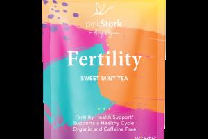 ORGANIC AND CAFFEINE FREE FERTILITY SUPPORT HERBAL SUPPLEMENT TEA PYRAMID SACHETS SWEET MINT