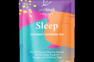 ORGANIC & CAFFEINE-FREE SLEEP SUPPORT HERBAL SUPPLEMENT TEA PYRAMID SACHETS COCONUT LAVENDER