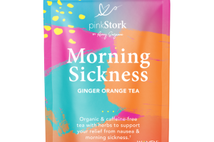 ORGANIC & CAFFEINE-FREE MORNING SICKNESS HERBAL SUPPLEMENT TEA PYRAMID SACHETS GINGER ORANGE