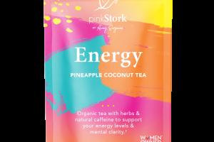 ENERGY SUPPORT TEA HERBAL SUPPLEMENT PYRAMID SACHETS PINEAPPLE COCONUT TEA