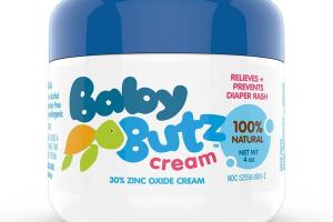 RELIEVES + PREVENTS DIAPER RASH 30% ZINC OXIDE CREAM