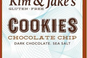 GLUTEN - FREE CHOCOLATE CHIP DARK CHOCOLATE. SEA SALT COOKIES