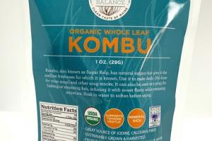 KOMBU ORGANIC WHOLE LEAF