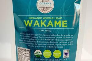 ORGANIC WHOLE LEAF WAKAME