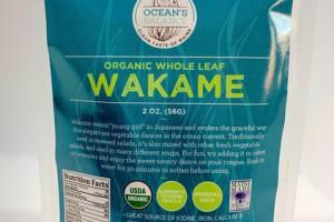 ORGANIC WHOLE LEAF WAKAME