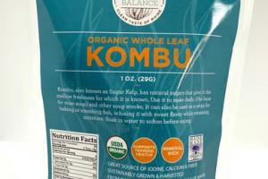 ORGANIC WHOLE LEAF KOMBU