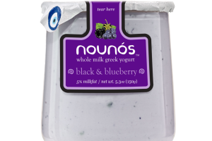 BLACK & BLUEBERRY WHOLE MILK GREEK YOGURT