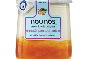 PEACH PASSION FRUIT GREEK LOW-FAT YOGURT