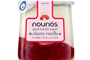 CHERRY VANILLA GREEK LOW-FAT YOGURT