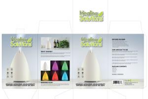 DESIGNER ULTRASONIC AROMATHERAPY DIFFUSER WITH MULTI COLOR LED LIGHT