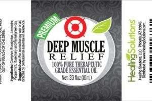 100% PURE THERAPEUTIC GRADE ESSENTIAL OIL, DEEP MUSCLE RELIEF