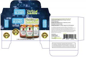 100% PURE ESSENTIAL OIL SEASONAL BLENDS COZY BY THE FIRE HOLIDAY CHEER FALLING SNOW