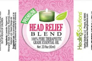 100% PURE THERAPEUTIC GRADE ESSENTIAL OIL, HEAD RELIEF BLEND