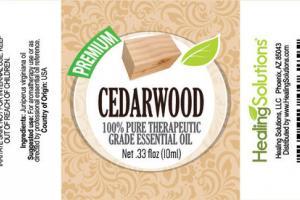 CEDARWOOD 100% PURE THERAPEUTIC GRADE ESSENTIAL OIL