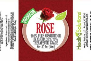 100% PURE ABSOLUTE OIL ROSE