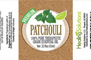 PATCHOULI PREMIUM 100% PURE THERAPEUTIC GRADE ESSENTIAL OIL