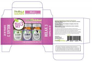 RELAX 3 SET 100% PURE ESSENTIAL OIL