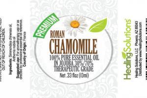 100% PURE THERAPEUTIC GRADE ESSENTIAL OIL, ROMAN CHAMOMILE