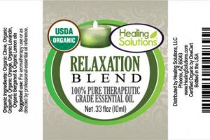 100% PURE THERAPEUTIC GRADE ESSENTIAL OIL RELAXATION BLEND