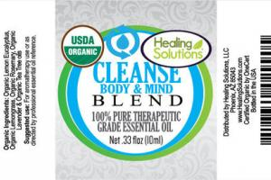 CLEANSE BODY & MIND BLEND 100% PURE THERAPEUTIC GRADE ESSENTIAL OIL