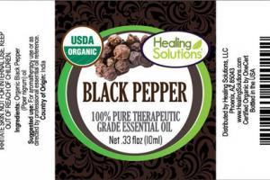 BLACK PEPPER 100% PURE THERAPEUTIC GRADE ESSENTIAL OIL