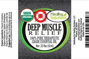 100% PURE THERAPEUTIC GRADE DEEP MUSCLE RELIEF ESSENTIAL OIL