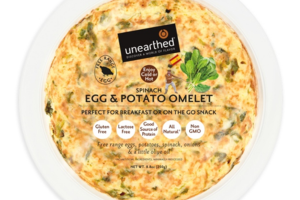 SPINACH EGG & POTATO OMELET