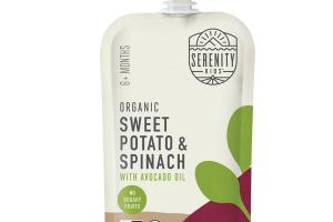 SWEET POTATO & SPINACH WITH AVOCADO OIL ORGANIC BABY FOOD