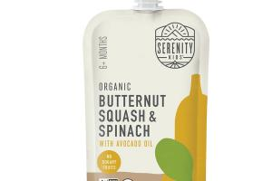 BUTTERNUT SQUASH & SPINACH WITH AVOCADO OIL ORGANIC BABY FOOD