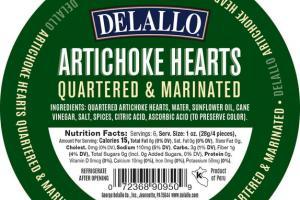 QUARTERED & MARINATED ARTICHOKE HEARTS