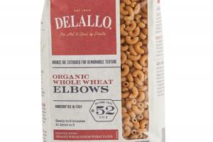 ORGANIC WHOLE WHEAT PASTA ELBOWS NO. 52