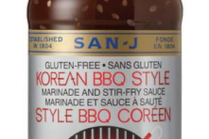 KOREAN BBQ STYLE GLUTEN-FREE MARINADE AND STIR-FRY SAUCE